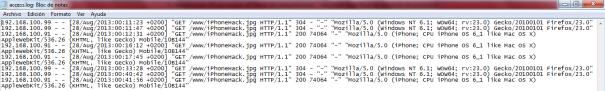 access.log - Apache