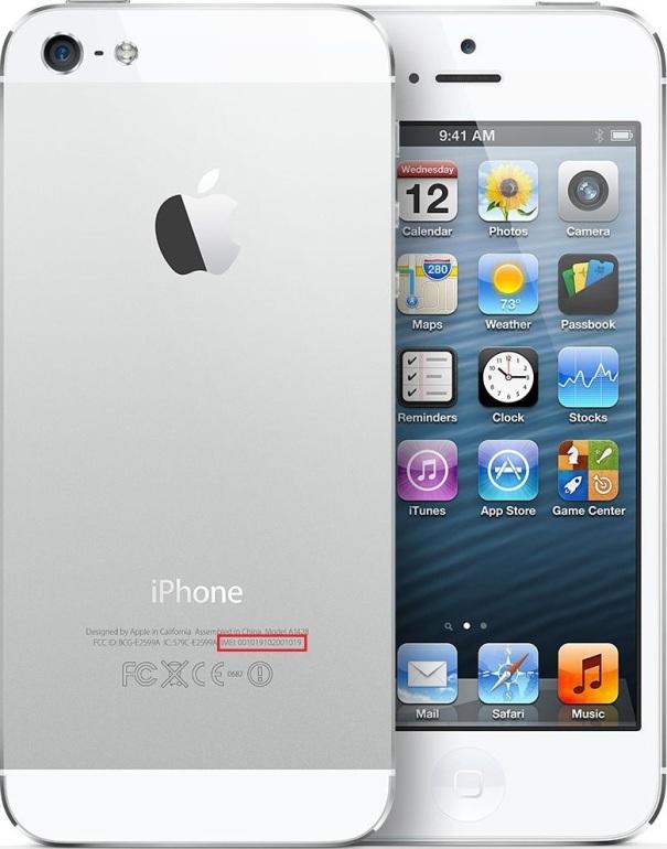 iPhone 5 IMEI